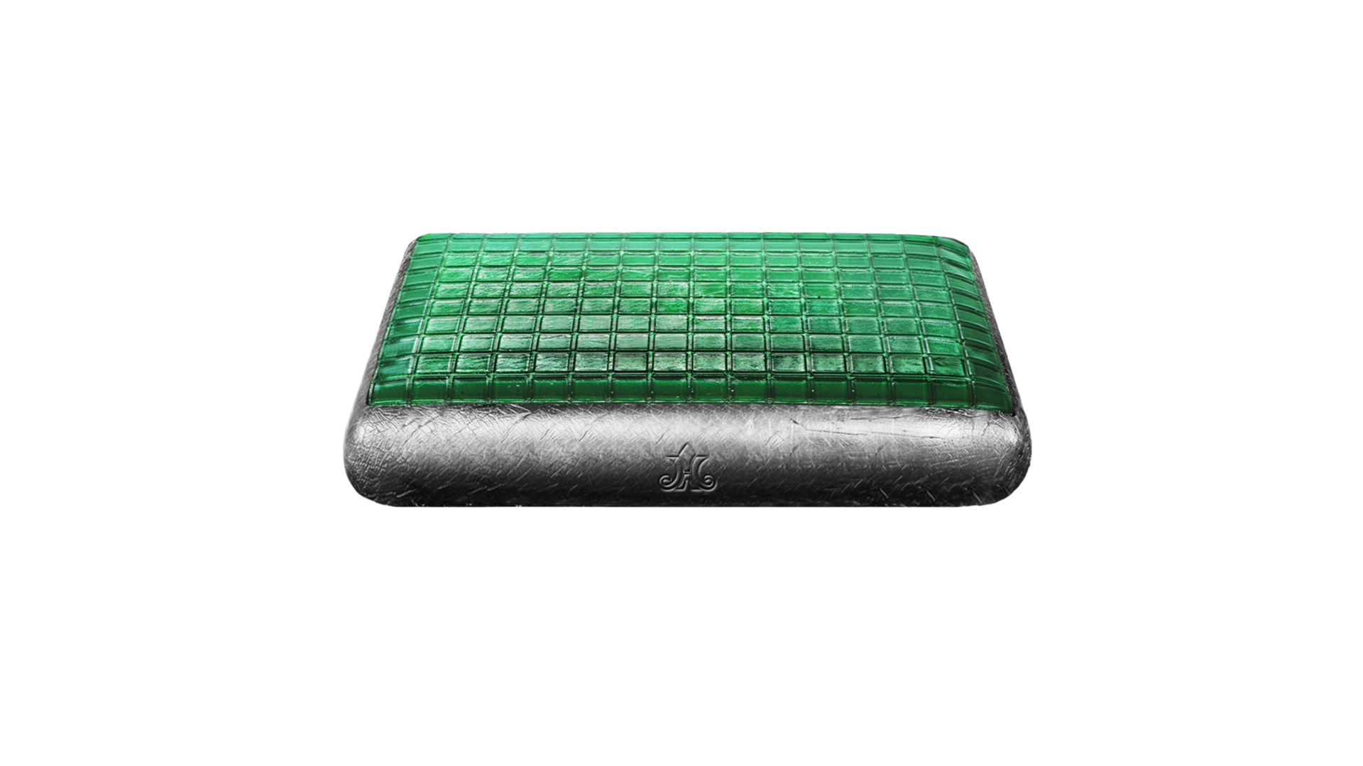 Black Premium Gel Pillow (Green Rock)